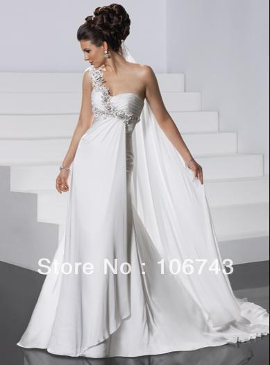 Free Shipping 2016 New Style Hot Sale Sexy Wedding Wear One Shoulder Custom Size Handmade Appliques Wholesale Bridesmaid Dresses