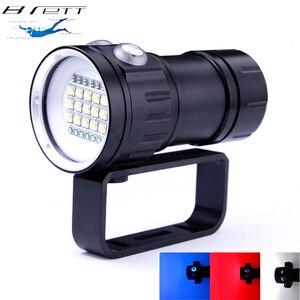 New LED Diving Flashlight Underwater 80M XHP70 / L2 Photography Video Camera Tactical Flashlight Blue+White LED Lanterna Torch(China)