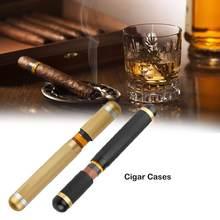 Seyahat puro kutusu sigara durumda Mini neme nem depolama tüp tek puro tüpü sigara seti aksesuarları 2 Mm iç Diame