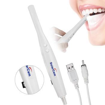 Kamera wewnątrzustna USB 16GB Dental kamera wewnątrzustna wodoodporna endoskop zęby lustro LED kontrola monitorowania światła tanie i dobre opinie AZDENT CN (pochodzenie) Z tworzywa sztucznego SolarCam U801 TV AV 1122000102