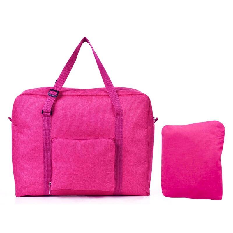 Мужские дорожные сумки, водонепроницаемая нейлоновая складная сумка для ноутбука, вместительная сумка для багажа, дорожные сумки, портативные женские сумки - Цвет: rose