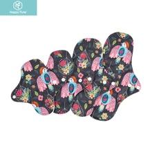 Happyflute Organic Bamboo Fiber  Washable Panty Liner Cloth Menstrual Pad Mama  Menstrual Pads Reusable Sanitary Pads For Lady