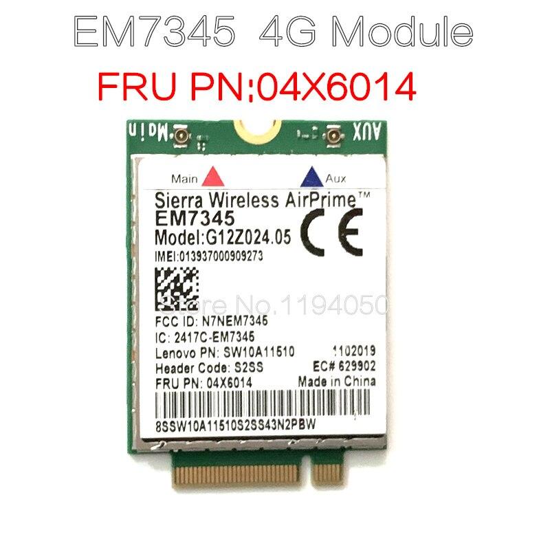 Lenovo ThinkPad EM7345 4G LTE Mobile Broadband 4G CARD WWAN EM7345 Module 04X6019