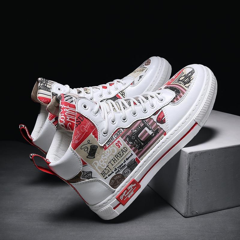 EPJKE/мужские высокие модные кроссовки; Лидер продаж; сезон весна осень; удобная мужская повседневная Уличная Нескользящая дышащая обувь; 2020 on AliExpress