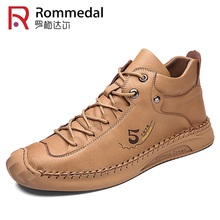Men Ankle Boots Casual Shoes Handmade Leather Shoes