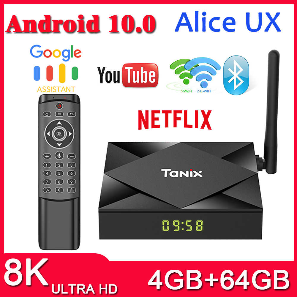 Prévente TX6S Tanix Android 10.0 TV Box H616 puce TX6 4GB 64GB smart TV Box lecteur multimédia double WiFi Bluetooth 8K TV décodeur