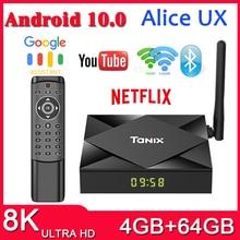 Presale TX6S Tanix 안드로이드 10.0 TV 박스 H616 칩 TX6 4 기가 바이트 64 기가 바이트 스마트 TV 박스 미디어 플레이어 듀얼 와이파이 블루투스 8K TV 셋톱 박스