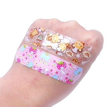 100Pcs Adhesive Bandages Waterproof Breathable First Aid Wound Plaster Cartoon