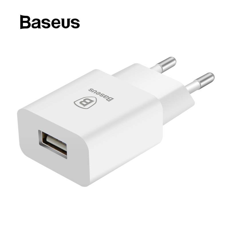 Baseus USB Charger for iPhone 8 7 EU <font><b>Plug</b></font> <font><b>Travel</b></font> Wall Charger for <font><b>Samsung</b></font> S9 Huawei Xiaomi Mi Mobile Phone Charger <font><b>Adapter</b></font> image