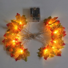 Halloween Illuminato Autunno Ringraziamento Decorazione Maple Leaf HA CONDOTTO LA Luce Della Stringa Del Partito Decorazioni FAI DA TE