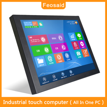Feosaid 17 inch Industrial Wall-mounted computer touch screen All in one PC Self-service terminal Framed Rack Mount 4G RAM SDD windows 11 6 inch touch screen 4g ram 128g ssd build in 58mm thermal printer all in one pc pos terminal cash register