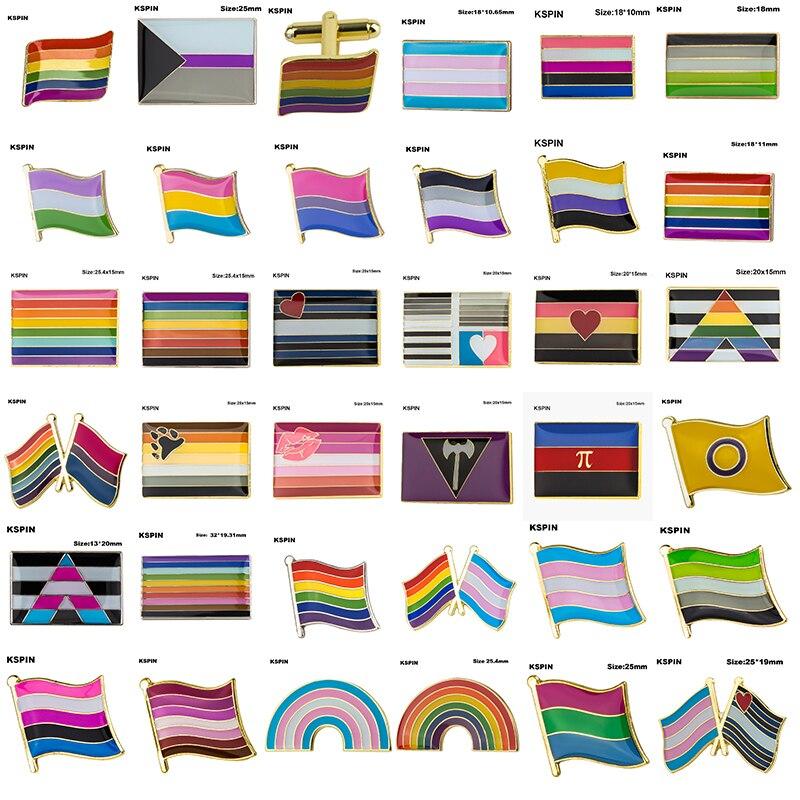 ЛГБТ значок гордости, трансгенный пол, жидкая ароматическая губная помада, паньсекс, бисексуал, асексуал, недвоичная губная помада, лесбийс...