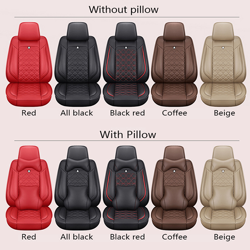 Car Seat Covers for Infiniti M56 5seat Full Set Seat Protector Artificial Leather,Front /& Rear Set Universal Beige