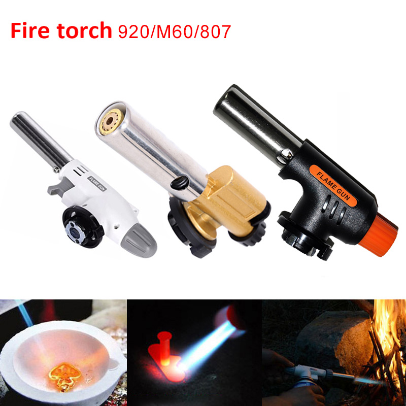 1 Pcs  Gas Welding Torch Adjustable  Lighter  Torch Automatic Flamethrower For Cooking BBQ Soldering 920/807/M60