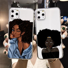 Afro Black Girl Magic Melanin Poppin  Novelty Fundas Phone Case Cover for iPhone 11 pro XS MAX 8 7 6 6S Plus X 5 5S SE XR cover babaite queen afro melanin poppin black girl phone cover for iphone x xs xr xsmax 7 7plus 8 8plus 6 6s 5 5s se 11 11pro 11promax
