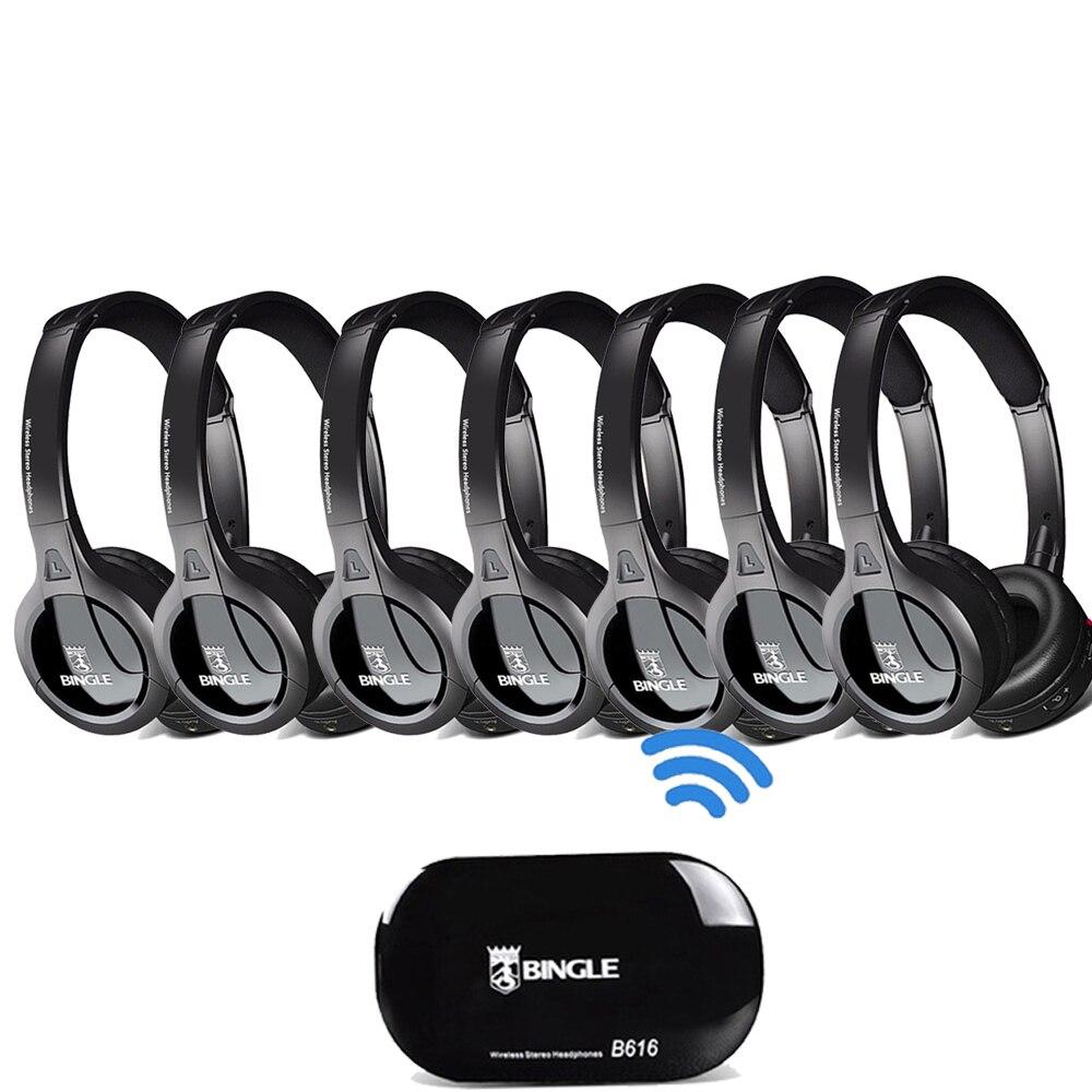 7 Pack 2,4G Wireless Transmitter Audio Headset Einem Ohr Fone Kopfhörer Für Samsung, LG, TCL, xiaomi, Sony, Sharp, Levono, Ehre TV