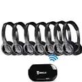 7 Pack 2.4G Wireless Transmitter Audio Headset One Ear Fone Headphones For Samsung,LG,TCL,Xiaomi,Sony,Sharp,Levono,Honor TV