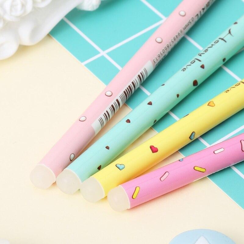 Kawaii Donuts Erasable Gel Pen 0.5mm Blue Ink Pens Students Office School Gift