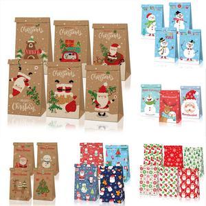Santa Claus Kraft Paper Candy Bag Merry Christmas Decorations for Home Christmas Ornaments Xmas Gifts Navidad 2020 New Year 2021