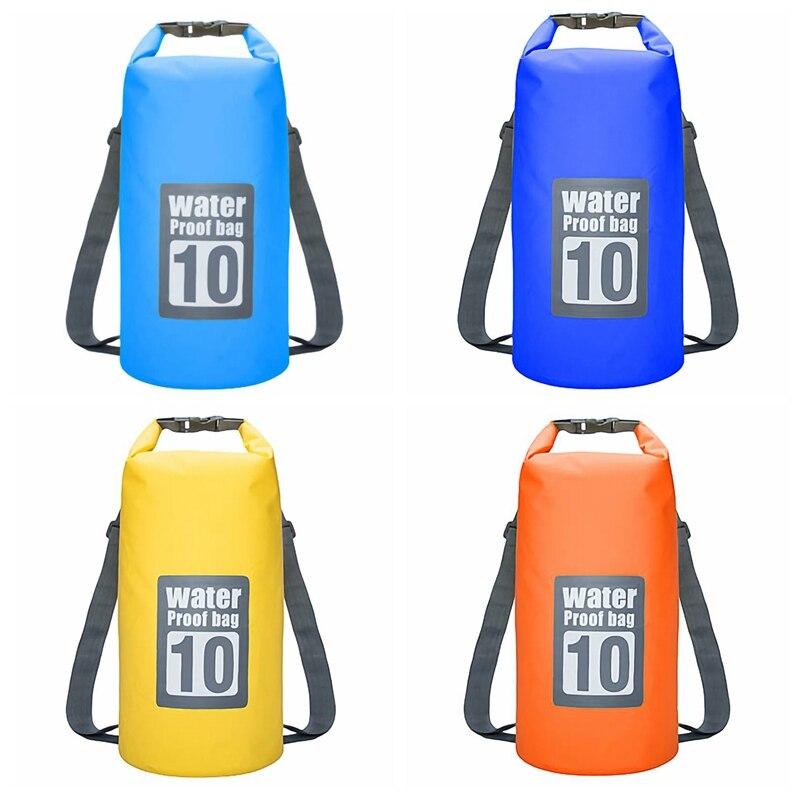 Floating Waterproof Dry Bag 10L Pack Roll Top Sack Swimming Rafting Kayaking Drifting Backpack For Camping Hiking Beach Fishing