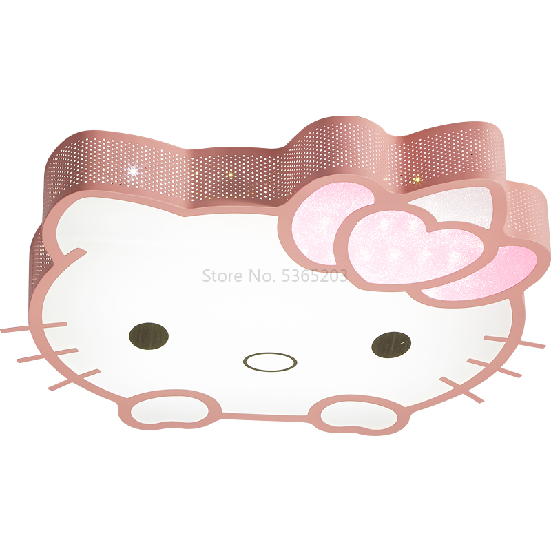 Hellokitty Cat Cartoon Absorb Top Light Girl Princess Room Hello Kitty Bedroom Lamps And Lanterns ceiling light verlichting