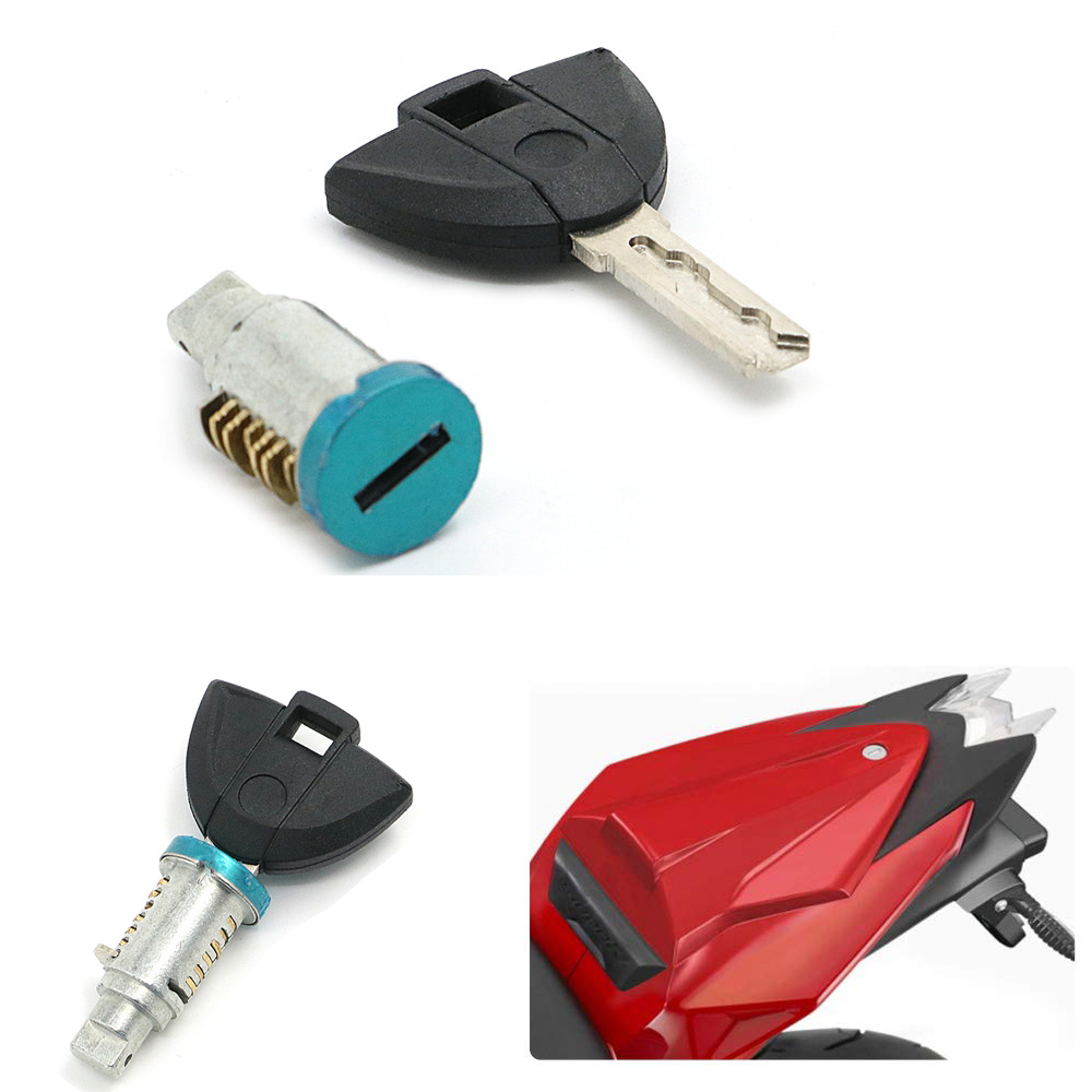 Motorcycle Lock Key Set Side Box Rear Passenger Seat Lock Core For S1000RR S1000R Universal