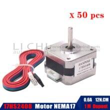 Nema17 Stepper Motor 50pcs 42 motor 12n.cm Nema 17 motor 42BYGH 17HS2408  motor 4 lead for 3D printer CNC XYZ