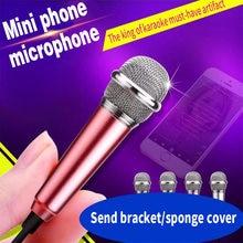 Mini micrófono pequeño para teléfono móvil, para cantar