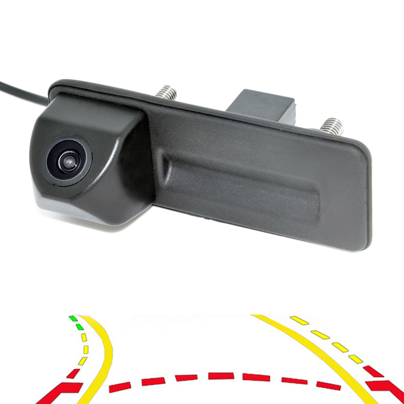 Dynamic Trajectory Tracks Parking Line RearView Reverse Trunk Handle Camera For AudiA1 Skoda Roomster Fabia Yeti Superb