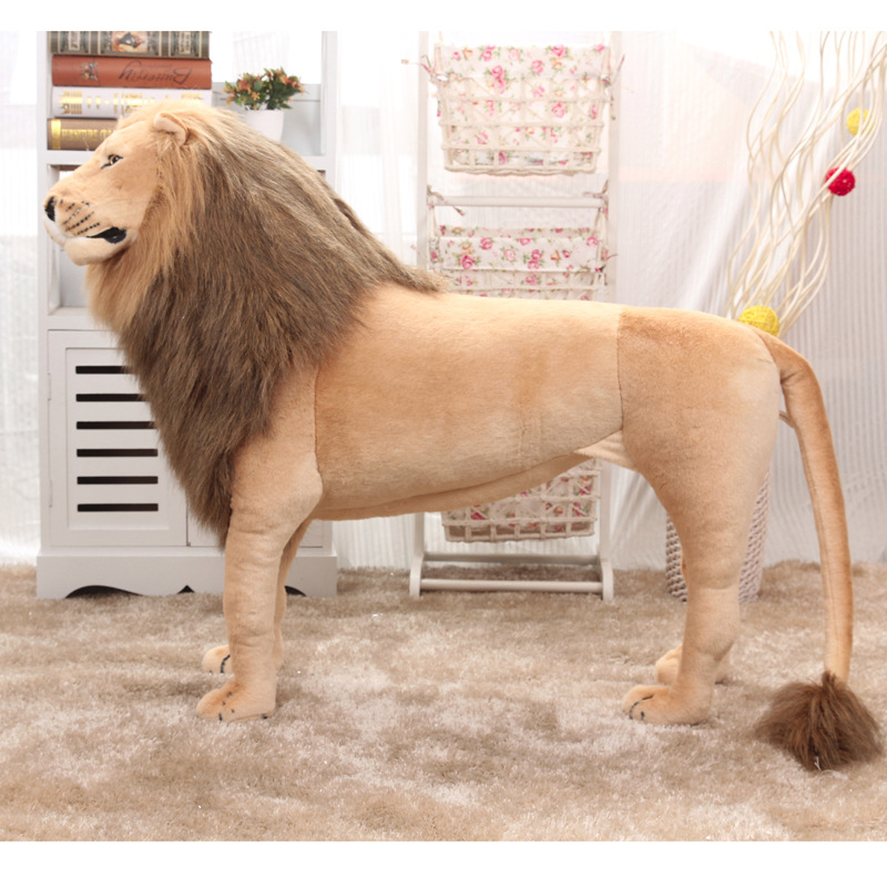 Huge Stuffed Toys Simulated Lion Large Plush Toys Children High Quality Lion Stand Christmas Gift Home Decoration 1.1m AA50MR - 2