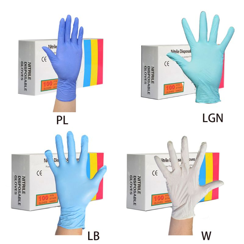 100pcs Home Disposable Washing Cleaning PVC Gloves Work Safety Gloves