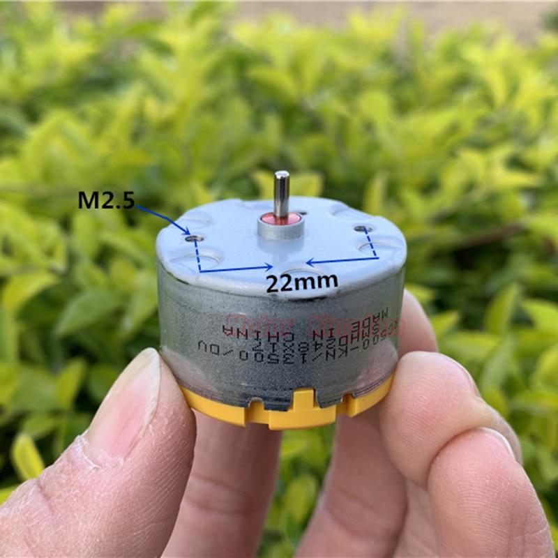 Standard  RC500-KN/13500  DC Motor 6V 9V 12V 5300RPM Small Mini 32mm Round Spindle Motor For Fragrance Machine Robot Sweeper