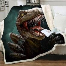 KIDS Children Bedding Outlet Dinosaur Fluffy Blanket Jurassic Soft Blanket Boys 3D cotton Home Textile Tyrannosaurus Bedding