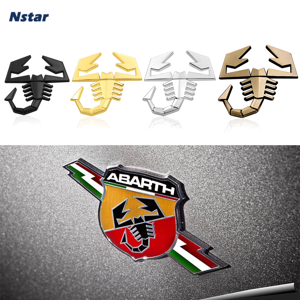 Nstar 1pc Scorpion Metal Badge Car Boot Trunk Emblem Auto Styling Accessories Fit For Fiat Grande Punto Abarth S2000 071