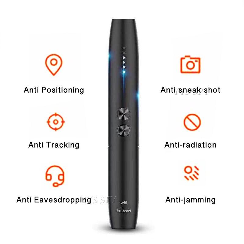 Detector de cámara oculta portátil, Anti espía, bolígrafo inalámbrico de señal RF, dispositivo localizador de Espia, espión, Wifi, cámara de Audio, GSM GPS Dispositivo de crecimiento más grande del pene extensor de aumento del pene