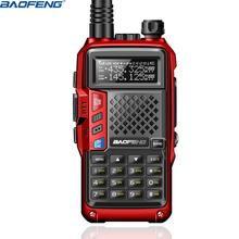 BAOFENG Walkie Talkie BF UVB3 PLUS, 8W, UHF/VHF, banda Dual, 10KM, largo alcance, portátil, modo de carga múltiple