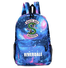 Riverdale South Side Backpack Mochila School Bags for girls boys Women Men Casual Travel Bag Galaxy Children Book Kids Gift