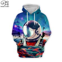 Newest 3D astronaut space suit Hoodie Sweatshirt Men Women Hoodies Casual Cute animal shirt yhy-018