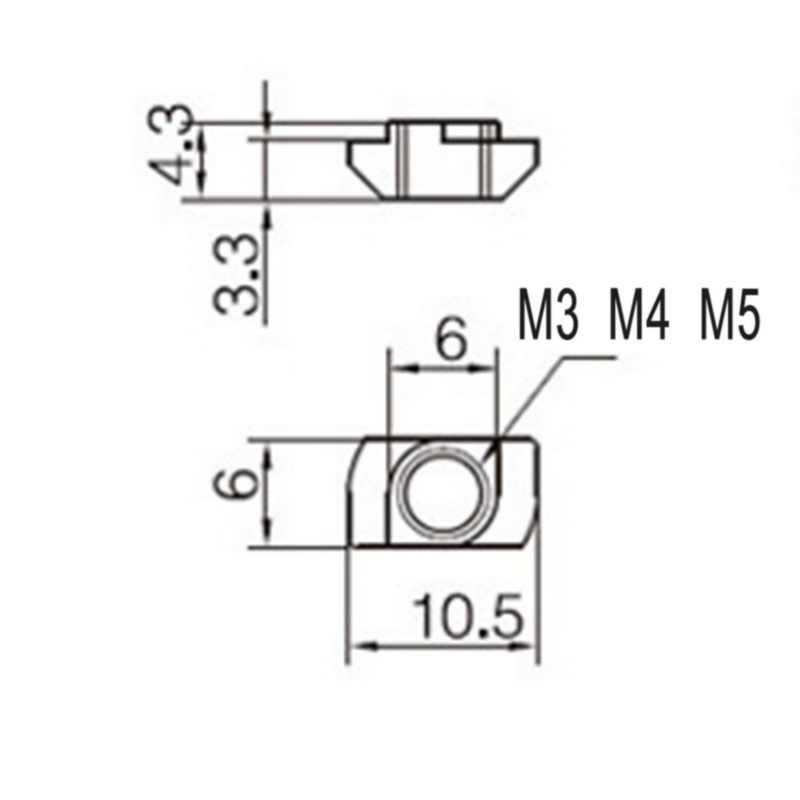 50 個 M3/M4/M5/M6/M8 T スロットナット炭素鋼 T スライドナットハンマーヘッドナット固定コネクタ高強度硬度 20/30/40/45