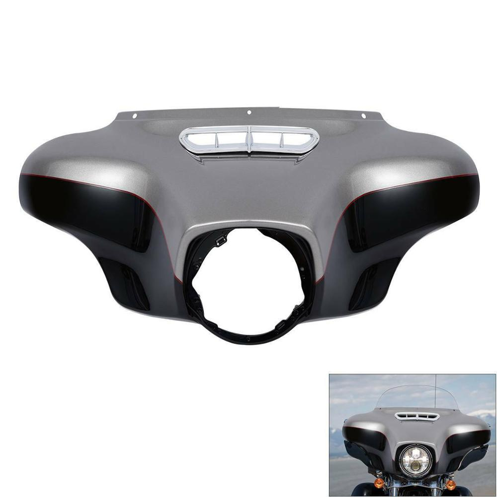 For 2014-18 Harley Touring Electra Street Glide Vivid Black Front Outer Fairing