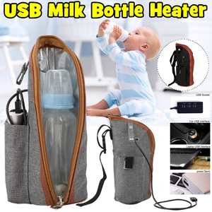 Bag Heater Milk-Warmer Feeding-Bottle Travel Baby Portable Infant USB Heated-Cover-Insulation
