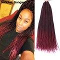 Senegalese Twist Synthetic Crochet Braids Hair 30 Strands/Pack Crochet Hair For Black Women Prelooped Crochet Hair Ombre Color