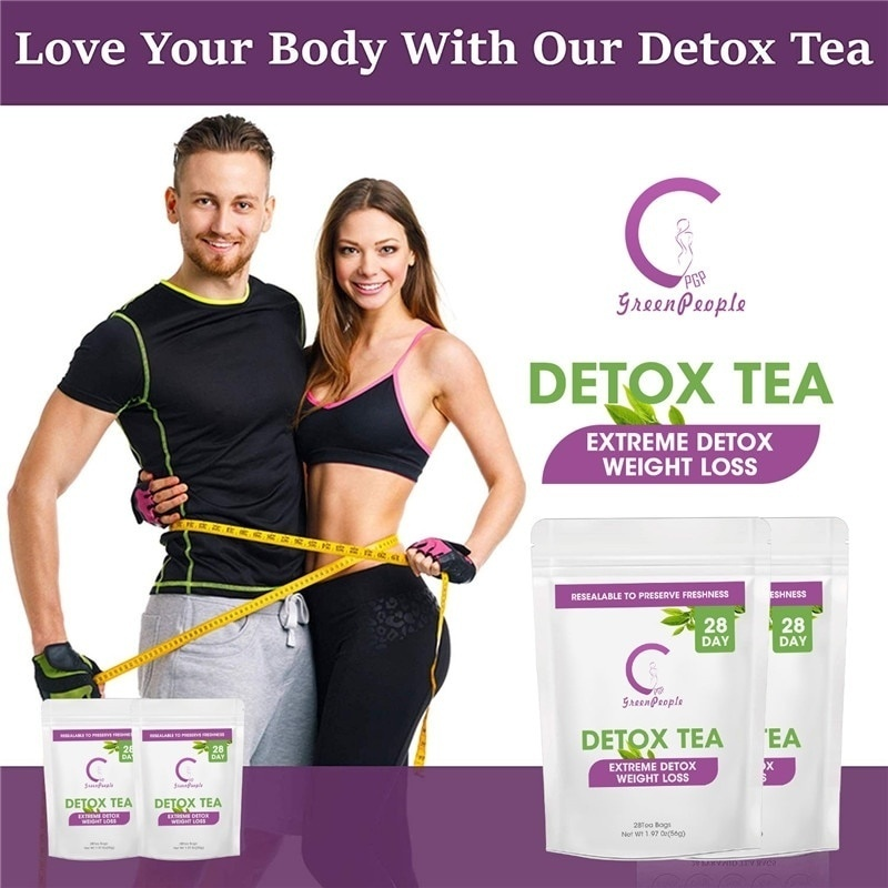 GPGP Green People Pure Natural <font><b>Detox</b></font> Tea Fat Burning Women And Men Slimming Products 7/14/<font><b>28</b></font> <font><b>Days</b></font> Effective Anti Cellulite image