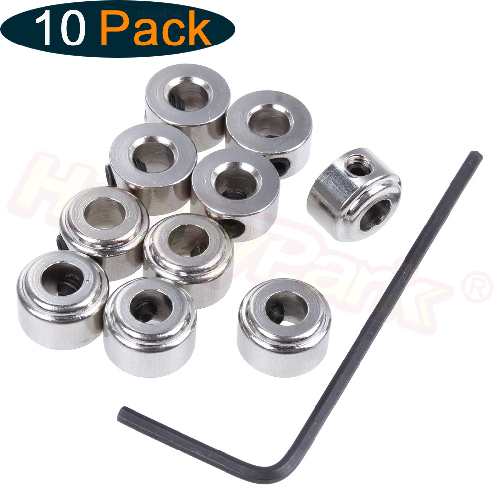 10 PCS Landing Gear Wheel Stop Set Collar 9x4.1mm RC Aeromodelling Airplane Model Aeroplane Parts Aircraft image