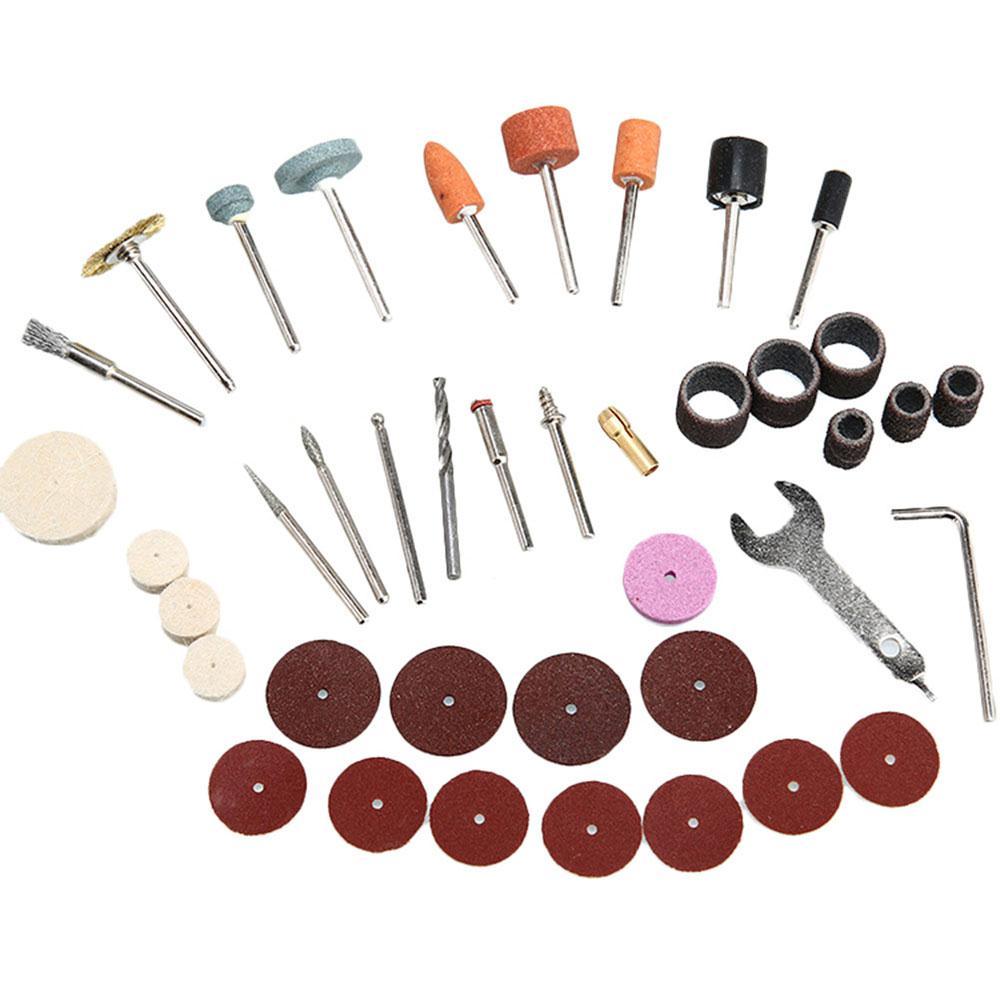 40pcs Electric Suit Plastic Colour Tool Kits Abrasive Paste Diamond Grinding Needle Steel Brush Practical Grinding Tool Set