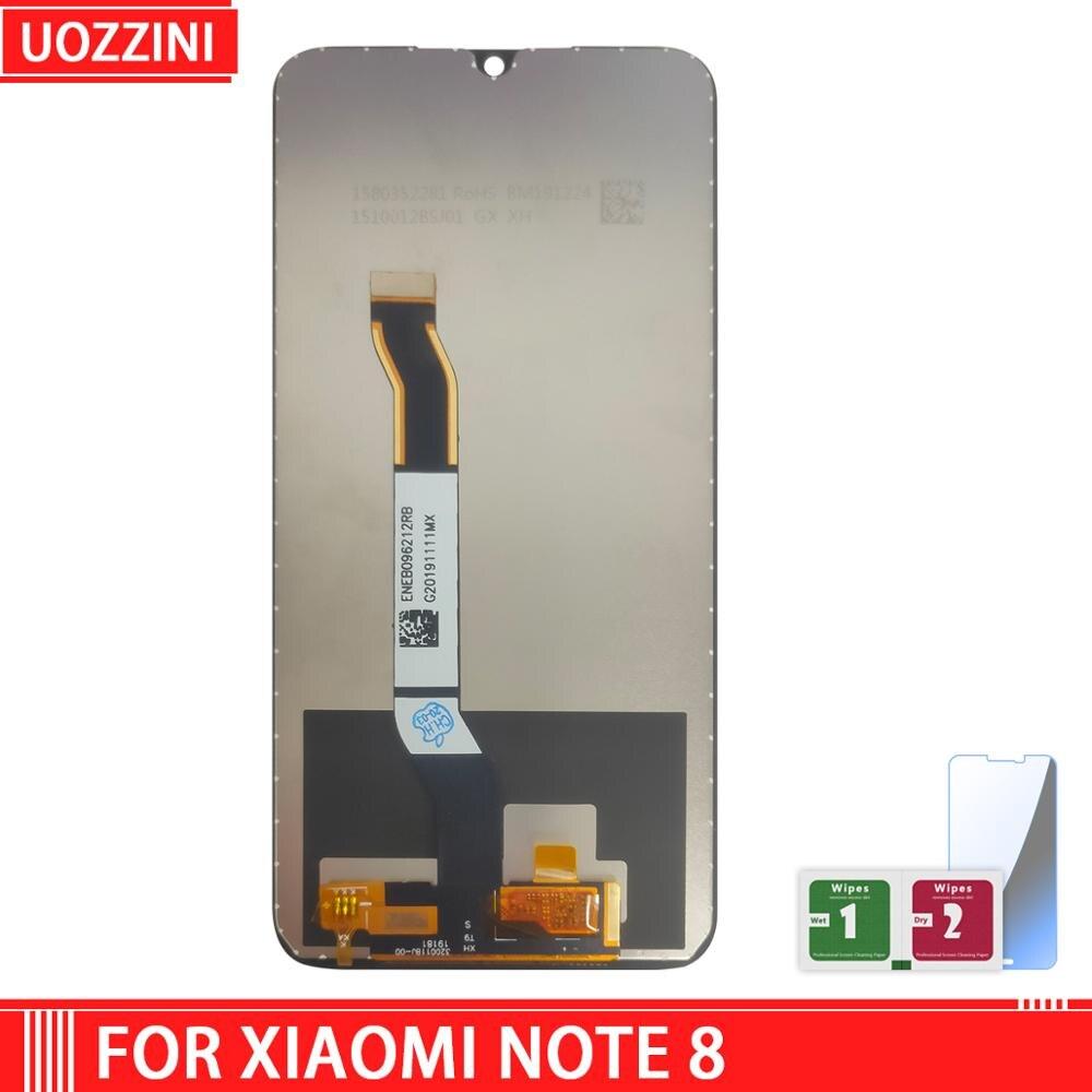 Tela digitalizadora touch screen lcd, conjunto de 6.53 polegadas para redmi note 8, qualidade aaa + + tela sensível ao toque