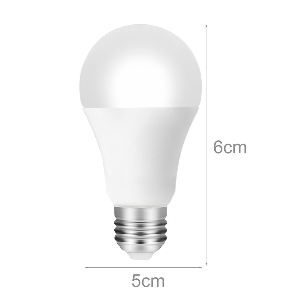 6 шт. 9 Вт свет Управление движения Сенсор свет E27 + движения PIR Сенсор светодиодный лампы Авто Смарт светодиодный PIR инфракрасный тела звук ла... - 6