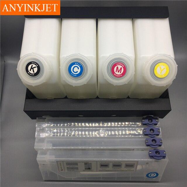 4 color CISS system bulk ink system for Mutoh RJ900 RJ901 VJ1604 VJ1614 etc printer (4 ink bottles+4 cartridges+ spare parts)