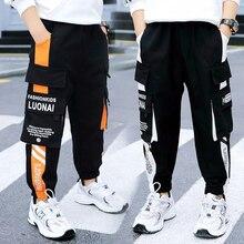 EACHIN Boys Pants Kid Pants for Boys Cargo Pant Casual Multi-Pocket Sports Pants Spring Autumn Teenage Boys Clothing Long Pants