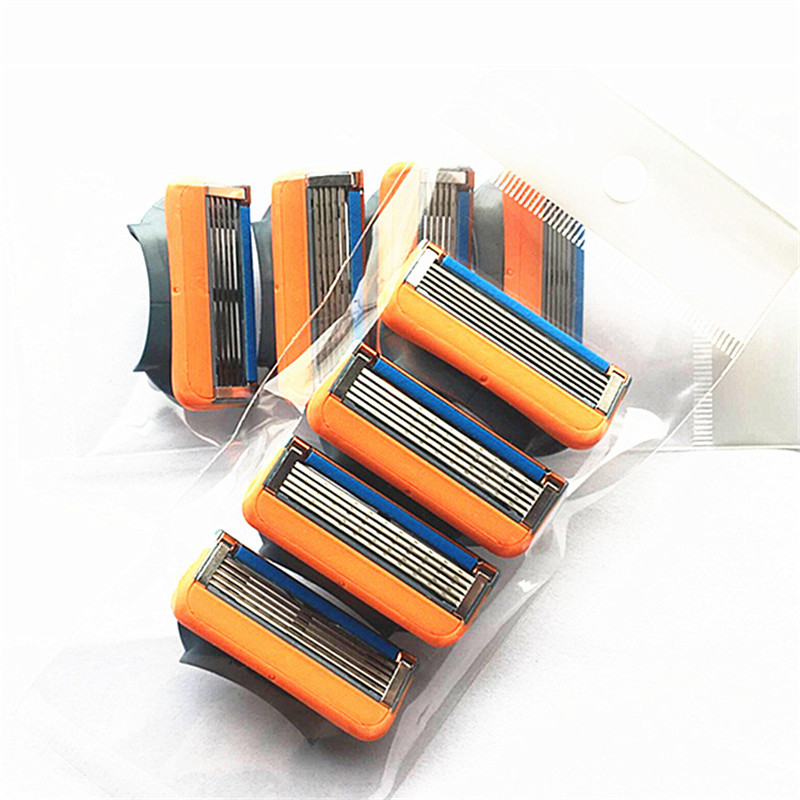 4pcs/Pack Shaving Razor Blades For Men Face Care Safety Razor Blade Mens Shaving Shaver Razor Replacement Heads